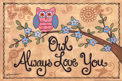 Framed Owl Always Love You Print