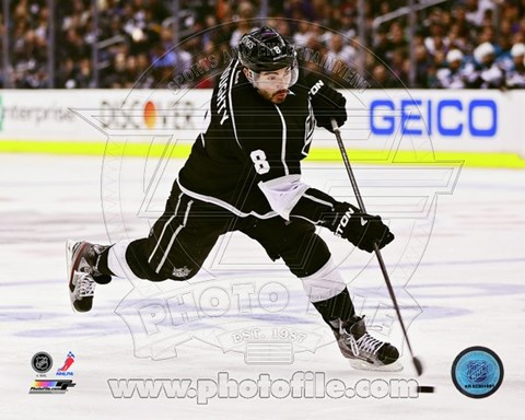 Framed Drew Doughty 2012-13 Playoff Action Print