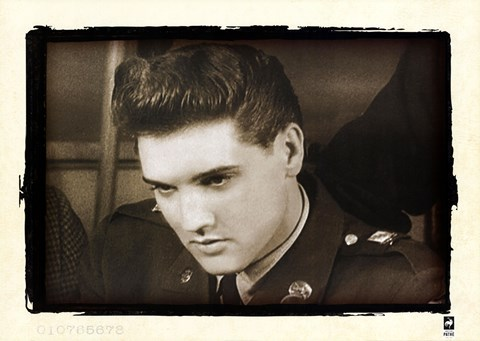 Framed Elvis Quits U.S. Army, 1960 Print