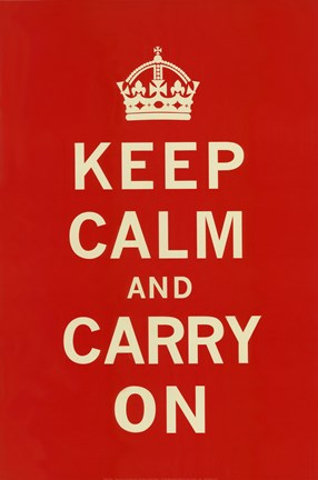 Framed Keep Calm And Carry On II Print