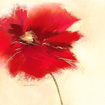 Framed Red Poppy Power II Print