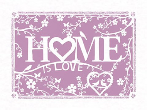Framed Home...is Love Print