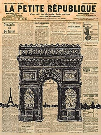 Framed Paris Journal II Print