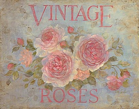 Framed Vintage Rose Print