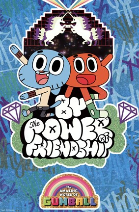 Framed Amazing World of Gumball - Friendship Print
