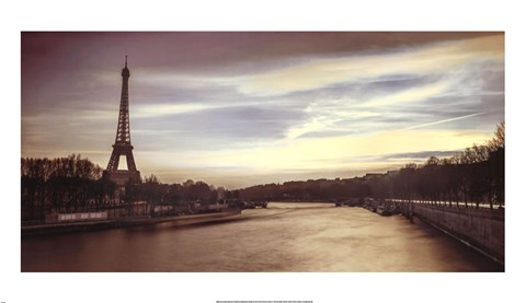 Framed Paris Sunset Print