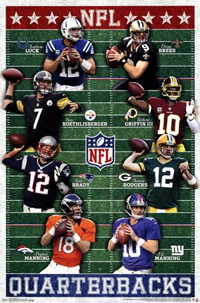 Framed NFL - Quarterbacks 13 Print