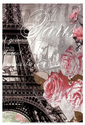 Framed Paris in Bloom I - Mini Print
