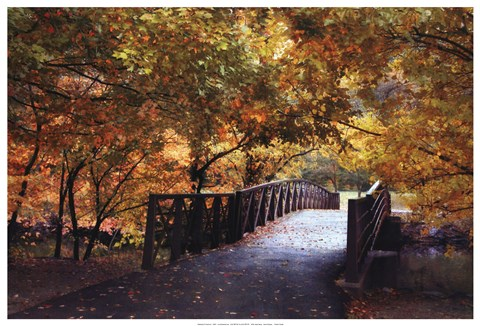Framed Autumn Overpass Print