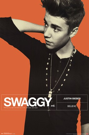 Framed Justin Bieber - Swaggy Print