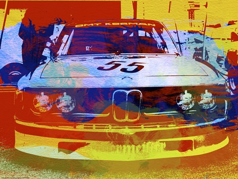 Framed BMW Racing Watercolor Print