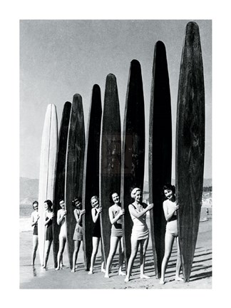 Framed Surfin' Gals Print