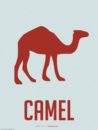 Framed Camel Red Print