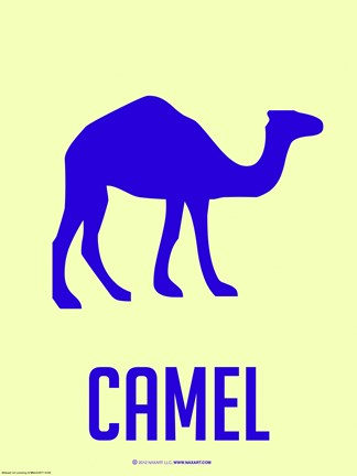 Framed Camel Blue Print