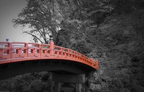 Framed Nikko Red Bridge Print