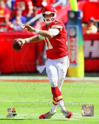 Framed Alex Smith with the ball 2013 Print