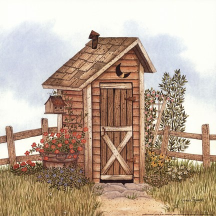 Framed Garden Outhouse I Print