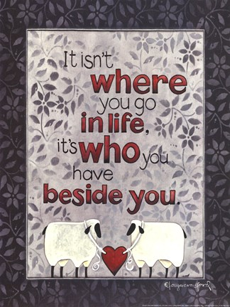 Framed Beside You Print