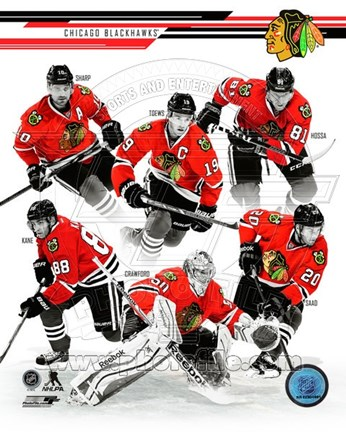 Framed Chicago Blackhawks 2013-14 Team Composite Print