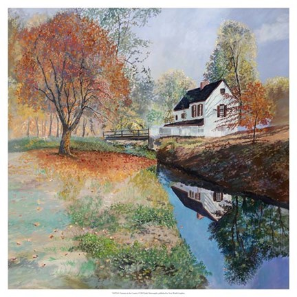 Framed Autumn in the Country Print