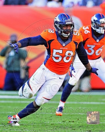 Framed Von Miller in action 2013 Print