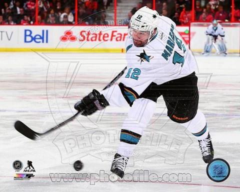 Framed Patrick Marleau on ice 2013-14 Action Print
