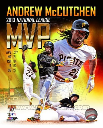 Framed Andrew Mccutchen 2013 National League MVP Portrait Plus Print
