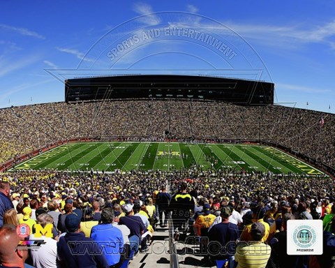 Framed Michigan Stadium University of Michigan Wolverines 2013 Print