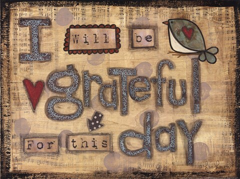 Framed Grateful Day Print