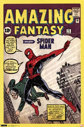 Framed Spider-Man - Amazing Fantasy # Print