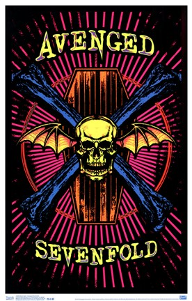 Framed Black Light - Avenged Sevenfold Print