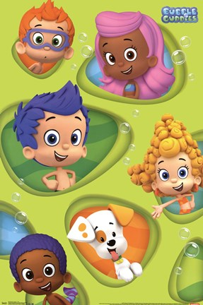 Framed Bubble Guppies - Grid Print
