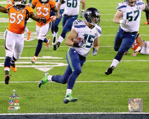 Framed Jermaine Kearse Running a Touchdown Super Bowl XLVIII Print