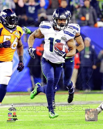 Framed Percy Harvin Touchdown Super Bowl XLVIII Print