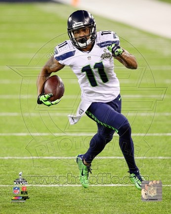 Framed Percy Harvin Super Bowl XLVIII Action Print