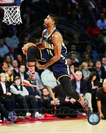 Framed Paul George Slam Dunk Contest 2014 NBA All-Star Game Action Print
