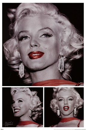 Framed BoH - Marilyn Monroe - Red Lip Print