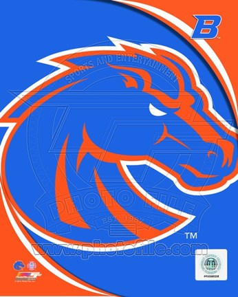 Framed Boise St. University Broncos Team Logo Print