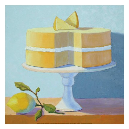 Framed Double Layer Lemon Cake Print