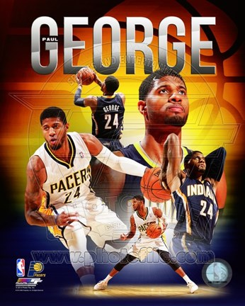 Framed Paul George 2014 Portrait Plus Print