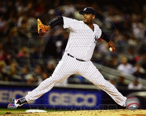 Framed CC Sabathia 2014 Action Print