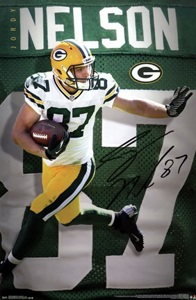 Framed Green Bay Packers - J Nelson 14 Print