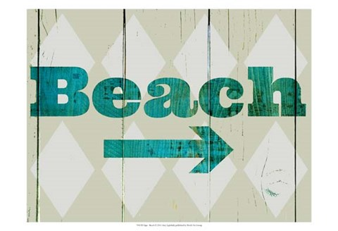 Framed Sign - Beach Print