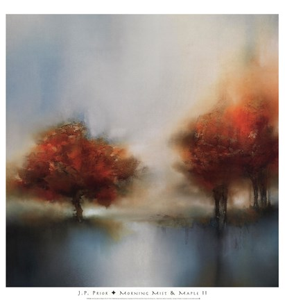 Framed Morning Mist & Maple II Print