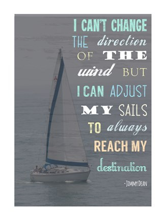 Framed Destination Jimmy Dean Quote Print