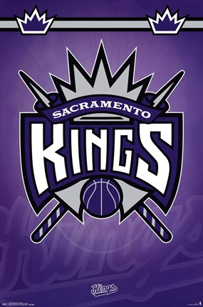 Framed Sacramento Kings - Logo 14 Print