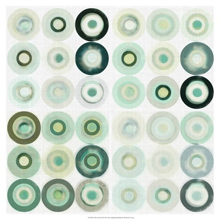 Framed Mint Circles II Print