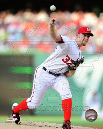 Framed Stephen Strasburg in action 2014 Print