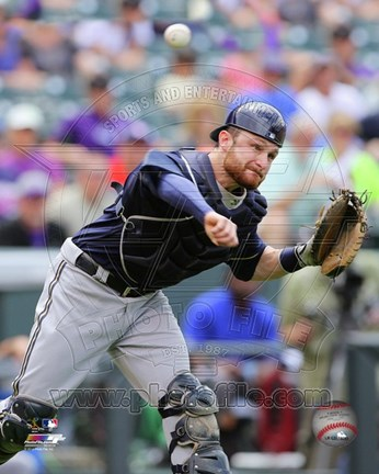 Framed Jonathan Lucroy 2014 Action Print