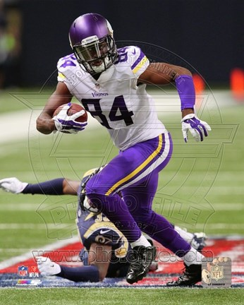 Framed Cordarrelle Patterson with the ball 2014 Print